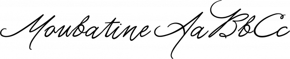 Moubatine font family by La Lettre de Luxe
