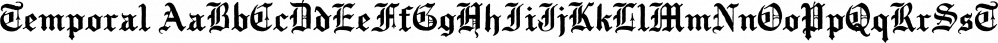 Temporal font family by E-phemera Fonts