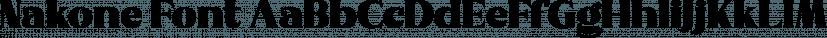 Nakone Font font family by madeDeduk