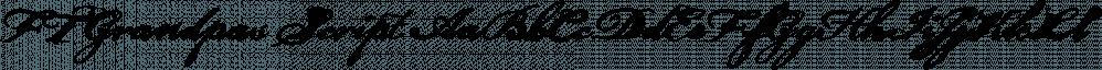FT Grandpas Script font family by Fenotype