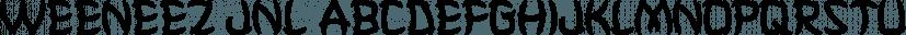 Weeneez JNL font family by Jeff Levine Fonts