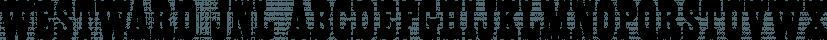 Westward JNL font family by Jeff Levine Fonts
