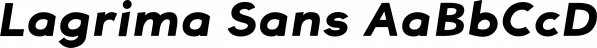 Lagrima Sans font family by Louie Yabut