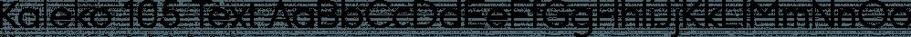 Kaleko 105 Text font family by Talbot Type