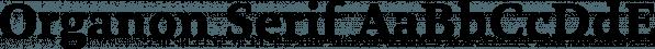 Organon Serif font family by G-Type