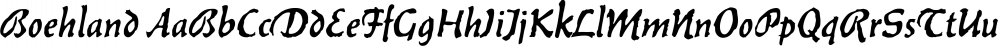 Boehland font family by FontSite Inc.