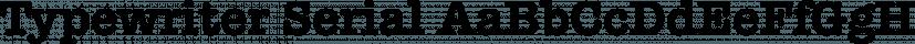 Typewriter Serial font family by SoftMaker