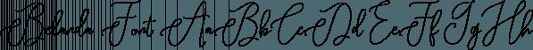 Belanda Font font family by Genesislab