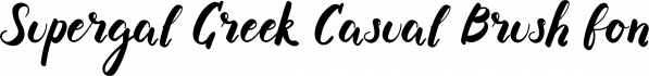 Supergal Greek Casual Brush font font family by Konstantina Louka
