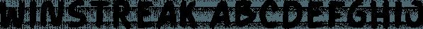 Winstreak font family by Letterhend Studio