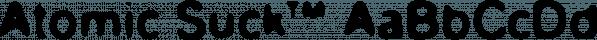 Atomic Suck™ font family by MINDCANDY