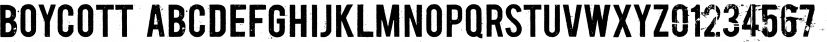 Boycott font family by Dharma Type