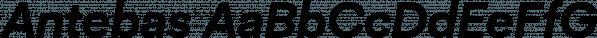 Antebas font family by Lafontype
