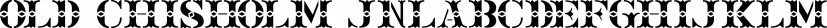 Old Chisholm JNL font family by Jeff Levine Fonts