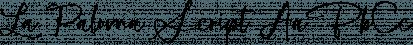 La Paloma Script font family by MakeMediaCo.