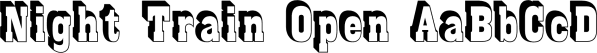 Night Train Black font family by FontMesa