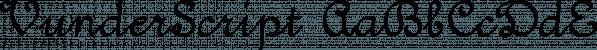 VunderScript font family by Ingrimayne Type