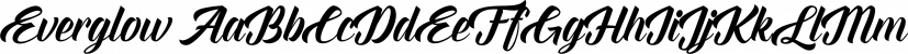 Everglow font family by Seniors Studio