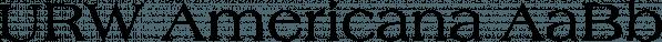 URW Americana font family by URW Type Foundry