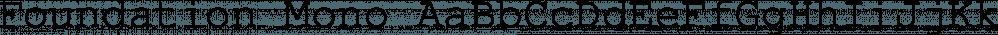 Foundation Mono font family by FontSite Inc.