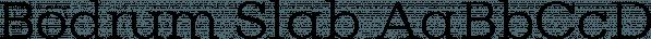 Bodrum Slab font family by Bülent Yüksel