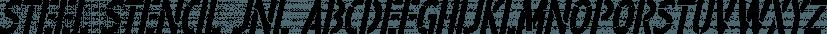 Steel Stencil JNL font family by Jeff Levine Fonts