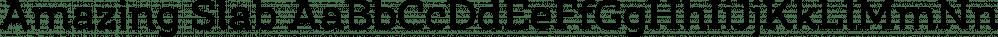 Amazing Slab font family by Zetafonts