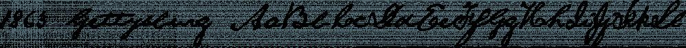 1863 Gettysburg font family by GLC Foundry