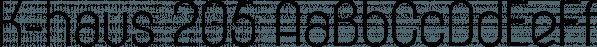 K-haus 205 font family by Talbot Type
