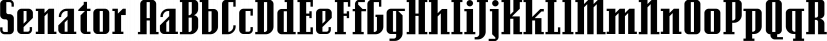 Senator font family by Emigre