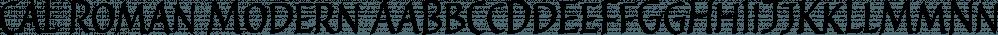 Cal Roman Modern font family by Posterizer KG