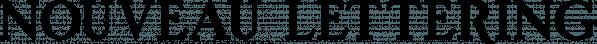 Nouveau Lettering JNL font family by Jeff Levine Fonts