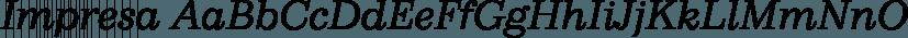 Impresa font family by FontSite Inc.