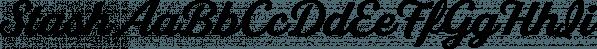 Stash font family by Jason Vandenberg