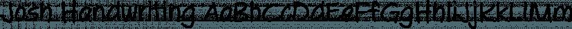 Josh Handwriting font family by SoftMaker