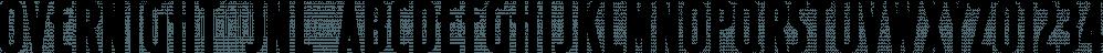 Overnight JNL font family by Jeff Levine Fonts