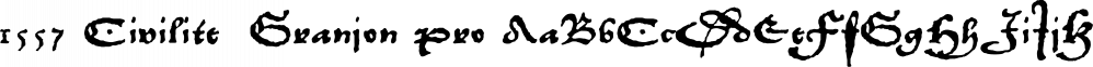 1557 Civilite  Granjon Pro font family by GLC Foundry