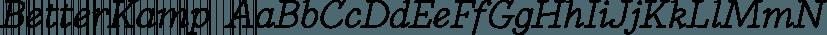 BetterKamp font family by Ingrimayne Type