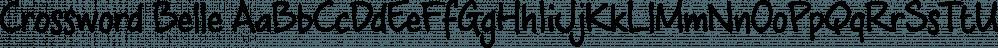 Crossword Belle font family by JOEBOB Graphics