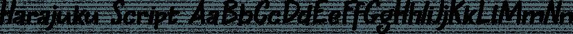 Harajuku Script font family by Hanoded