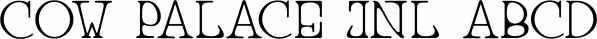 Cow Palace JNL font family by Jeff Levine Fonts