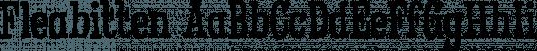 Fleabitten font family by Hanoded
