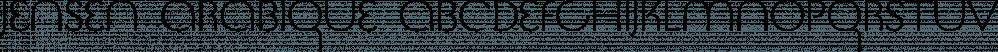 Jensen Arabique font family by CastleType