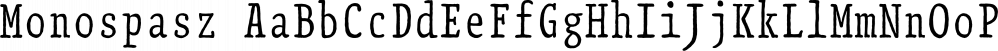 Monospasz font family by Yanone