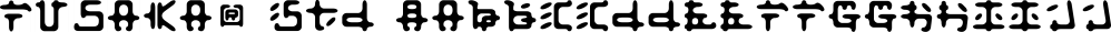 Fusaka® Std font family by Adobe