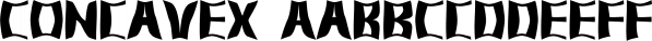 Concavex font family by Ingrimayne Type