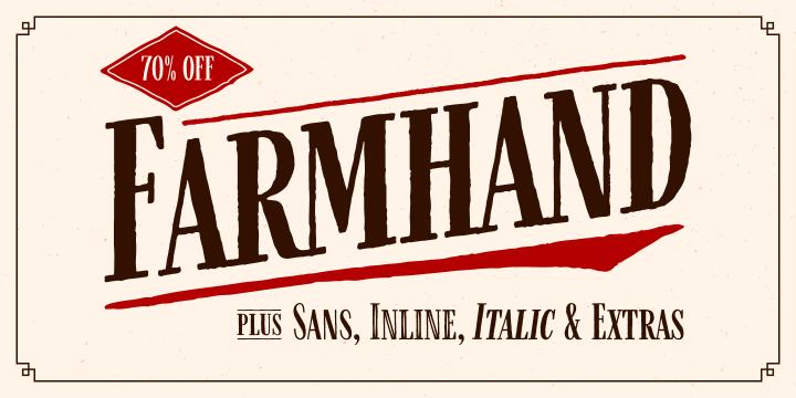 Farmhand font family by Adam Ladd