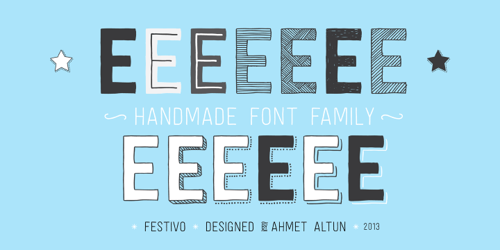 Festivo Letters font family by Ahmet Altun