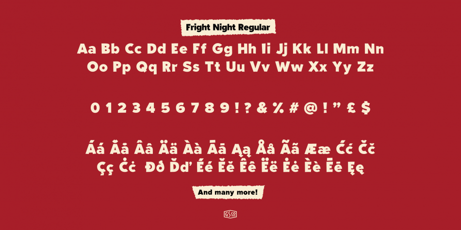 Download Fright Night Font Family