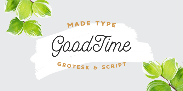 MADE GoodTime font family by MadeType
